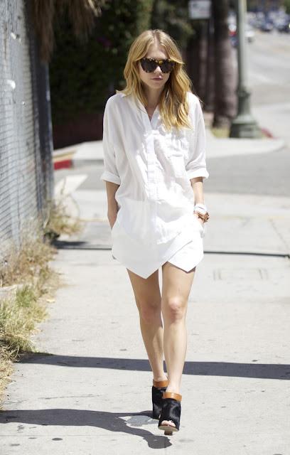 short saia camisa branca all white