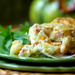 Creamy Scalloped Potatoes and Ham