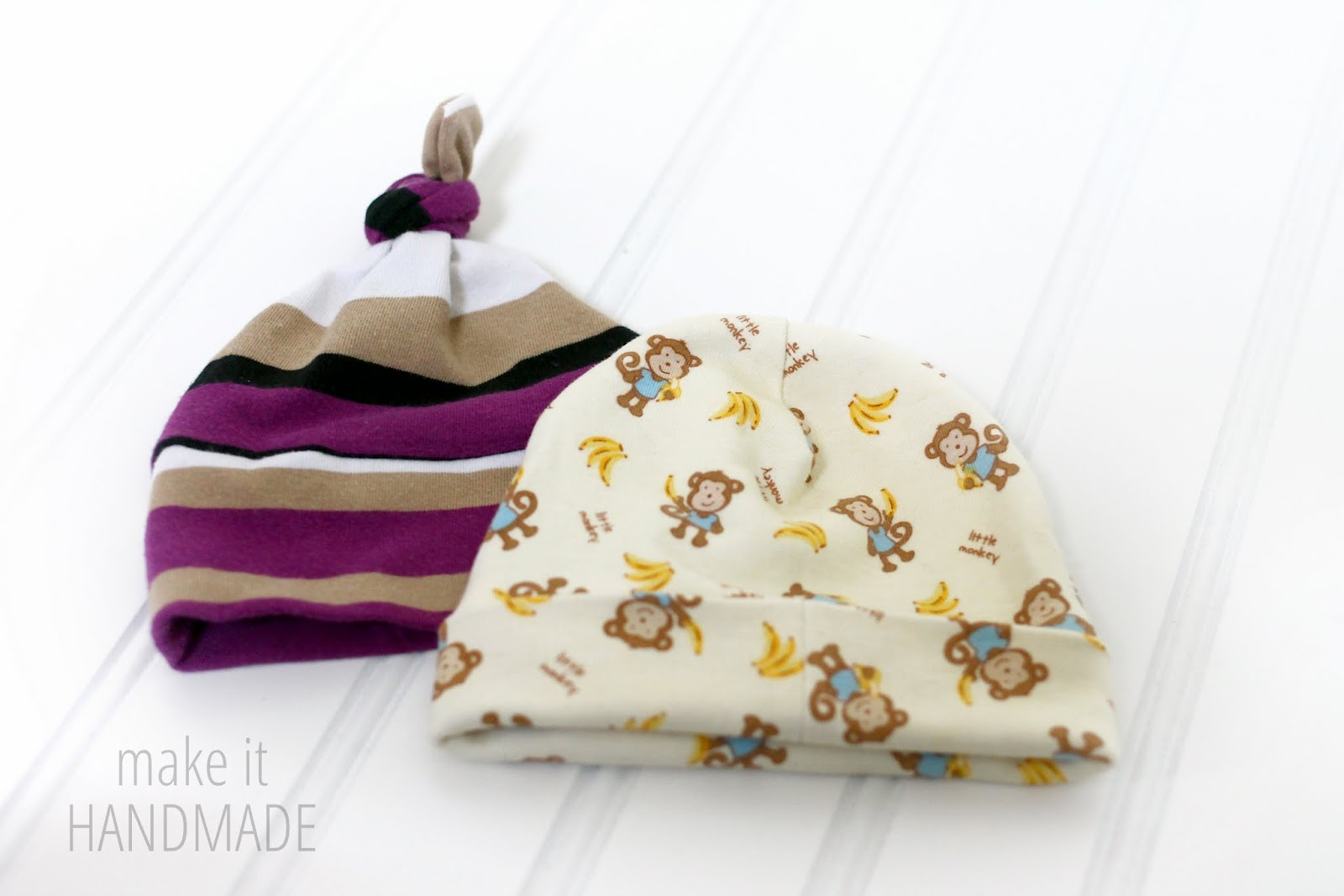 DIY Sewn Newborn Hats and easy pattern storage tips! | by www.makeithandmade.com