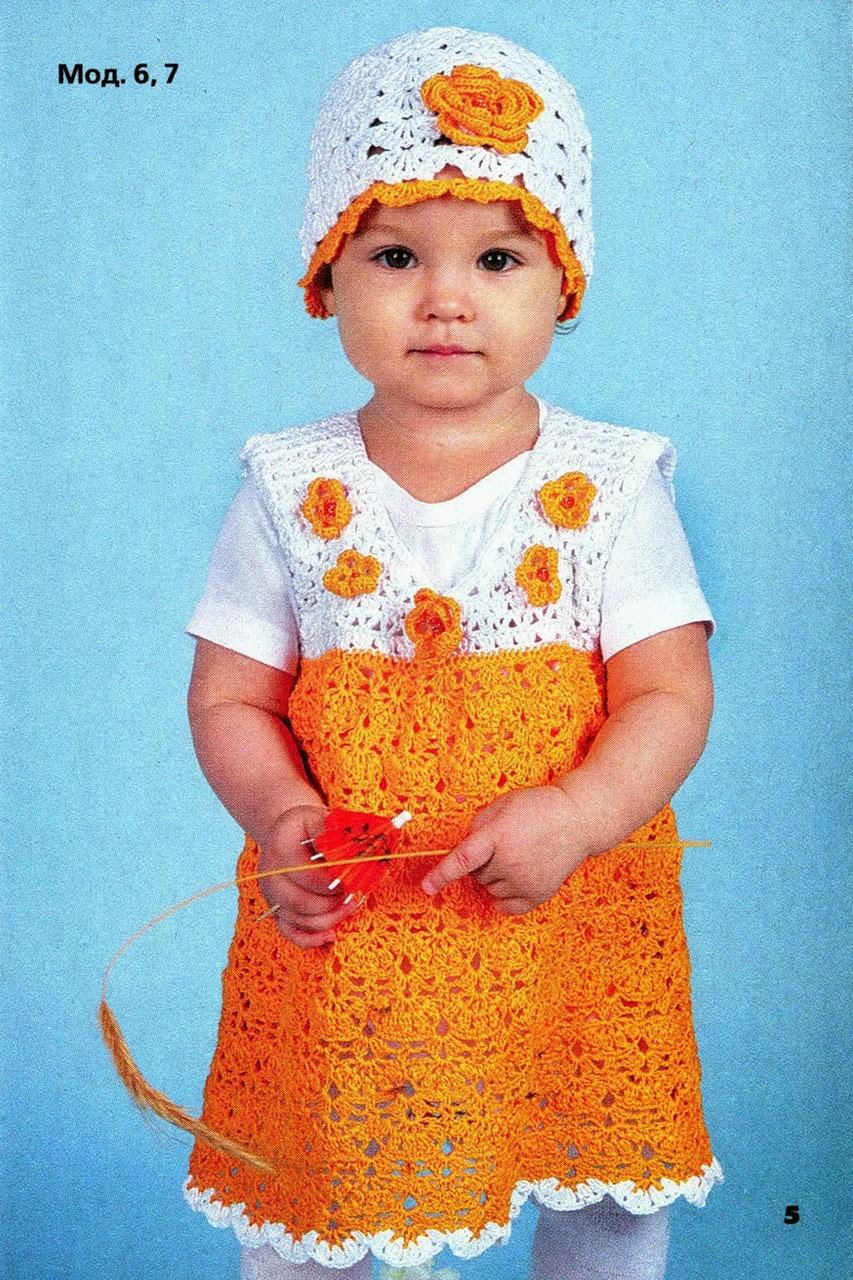 Вязание для детей платьица