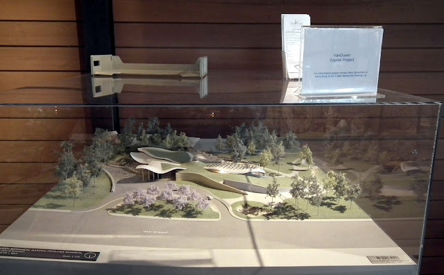 The maquette of the new Visitor Centre of VanDusen Botanical Garden