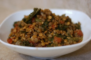 Slow Cooker Lentil and Kale Super Food