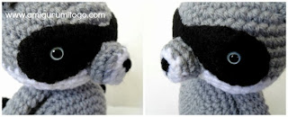 black felt eye patch for raccoon