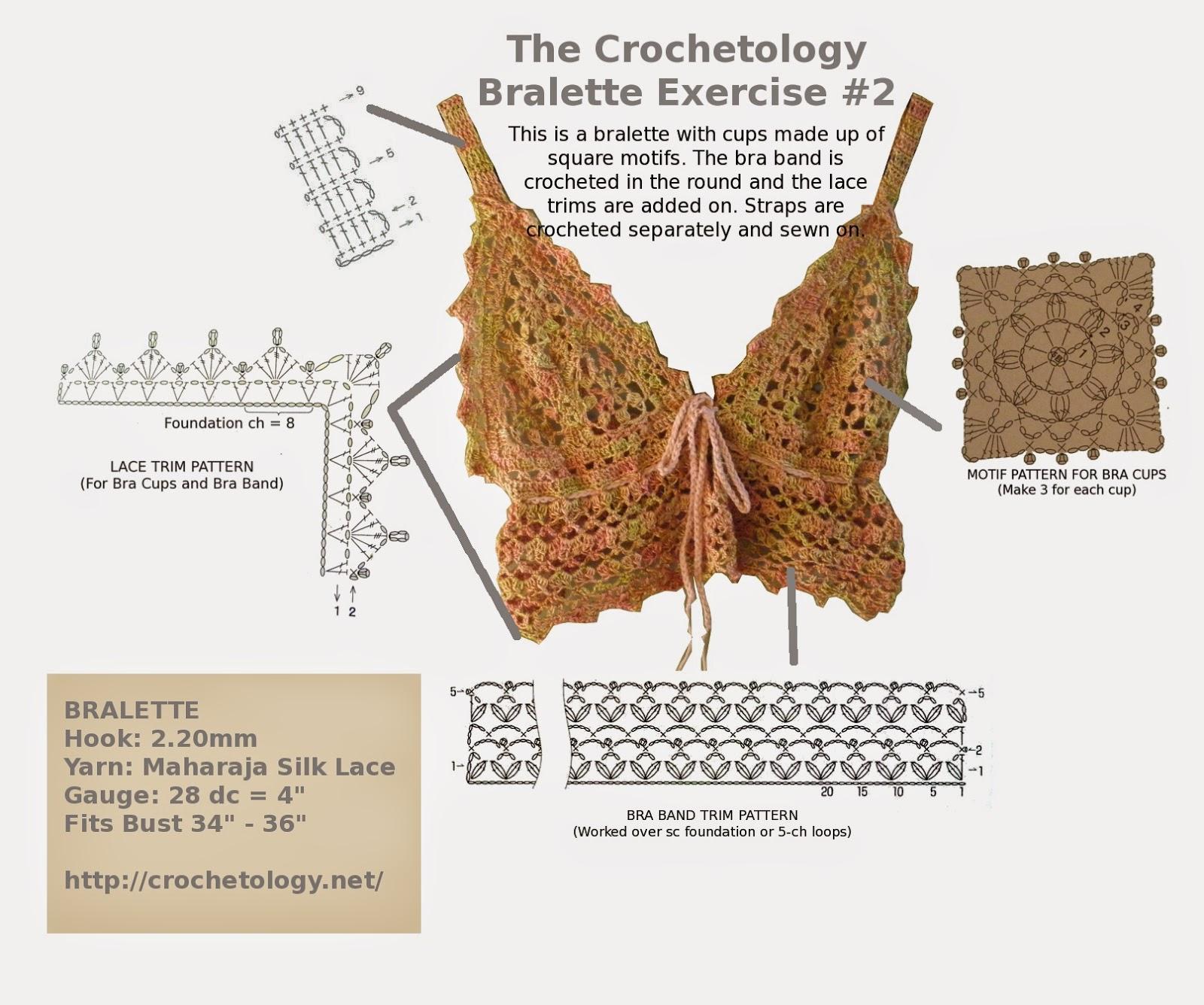 Crochetology by Fatima: Crocheted Bralette No. 2