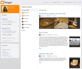 dashboard new blogger