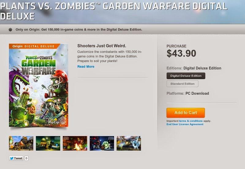 Game Plant Vs Zombie Terbaru yang dijual $43.90