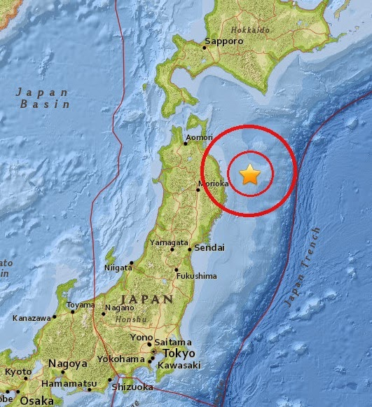 Magnitude 5.2 Earthquake of Miyako, Japan 2015-04-29
