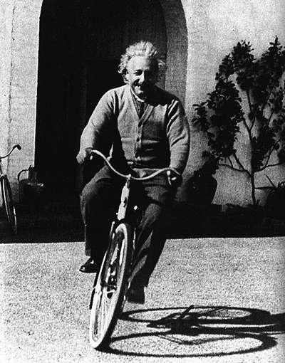 Image result for einstein pictures bicycle