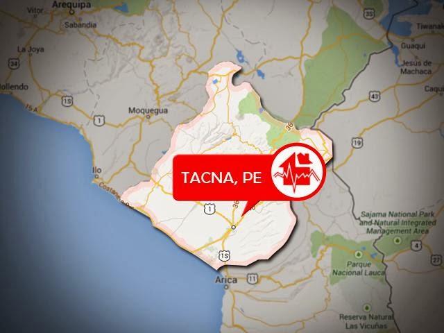 SISMO DE 5,5 GRADOS EN FRONTERA PERU-CHILE, 29 de Enero 2014