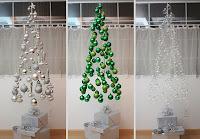 arboles de navidad flotantes