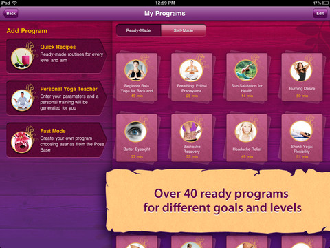 All-in YOGA: 300 Poses & Yoga Classes free Apple App Store for iPhone, iPad and iPod touch devices.