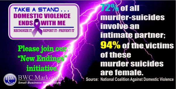 72% of all murder/suicides involve domestic violence