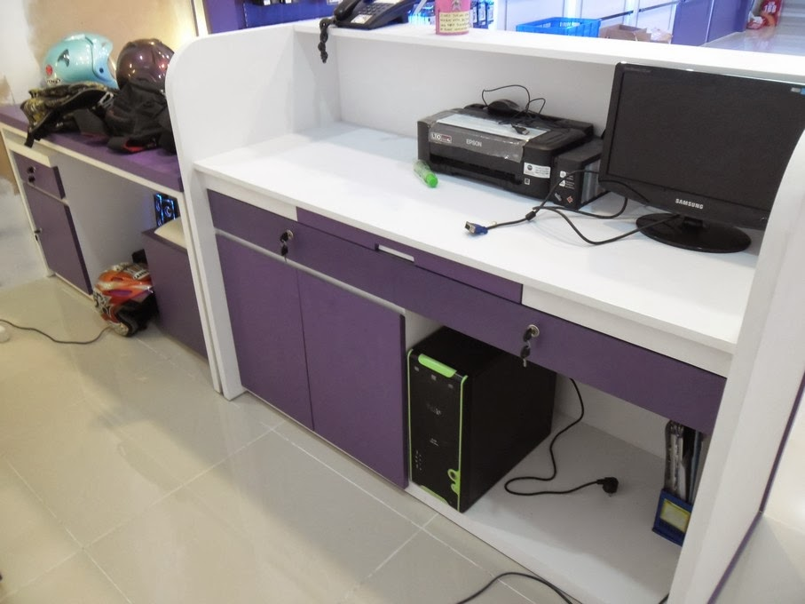 meja kasir konter handphone
