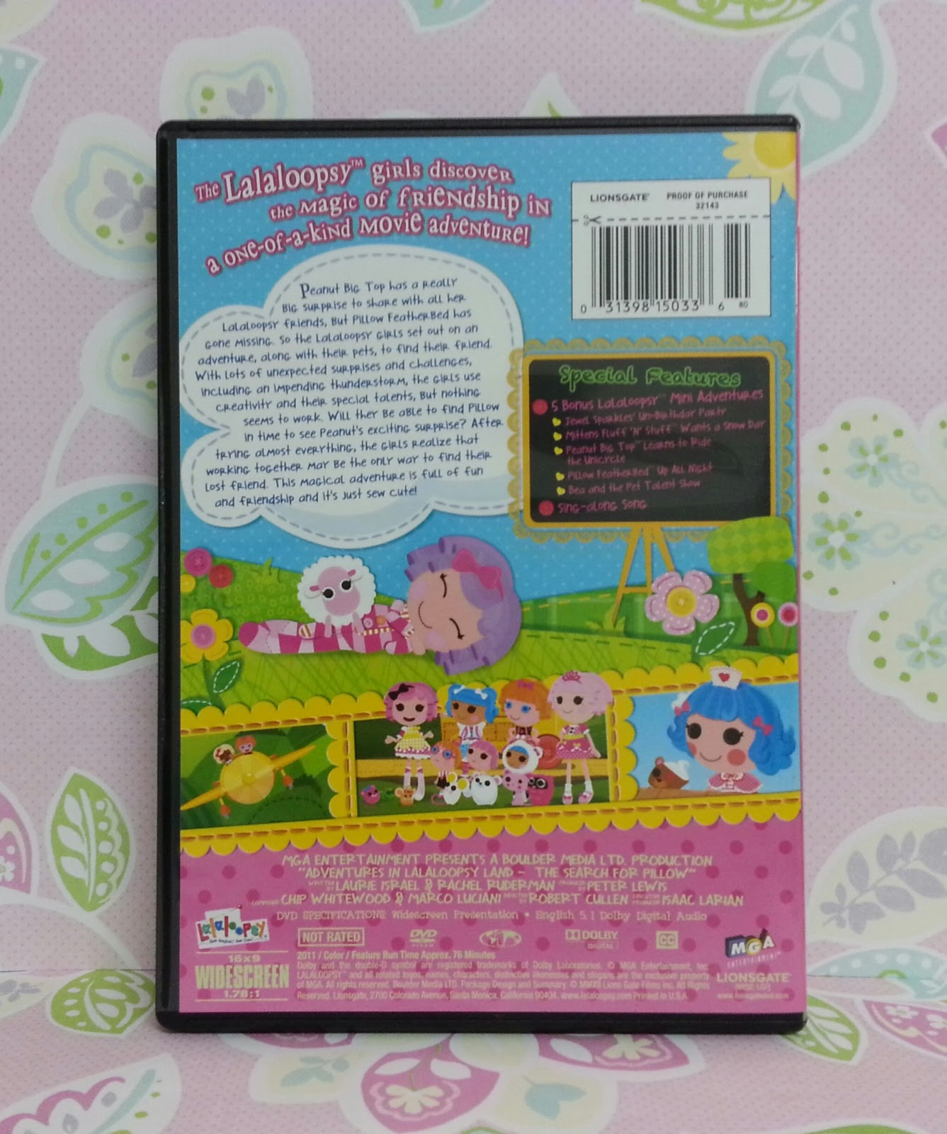 "LaLa-Oopsies- A Sew Magical Tale"" new Lalaloopsy DVD Review and ..."