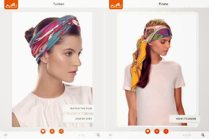 Available for iPad as well as iPhone Herms Silk Knots app is an  Hermes Silk Scarf How To Wear