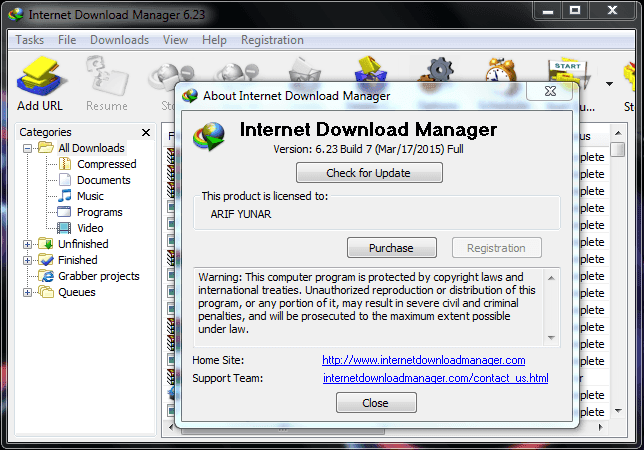 Download IDM 6.23 Build 7 Full Patch Crack Terbaru 2015