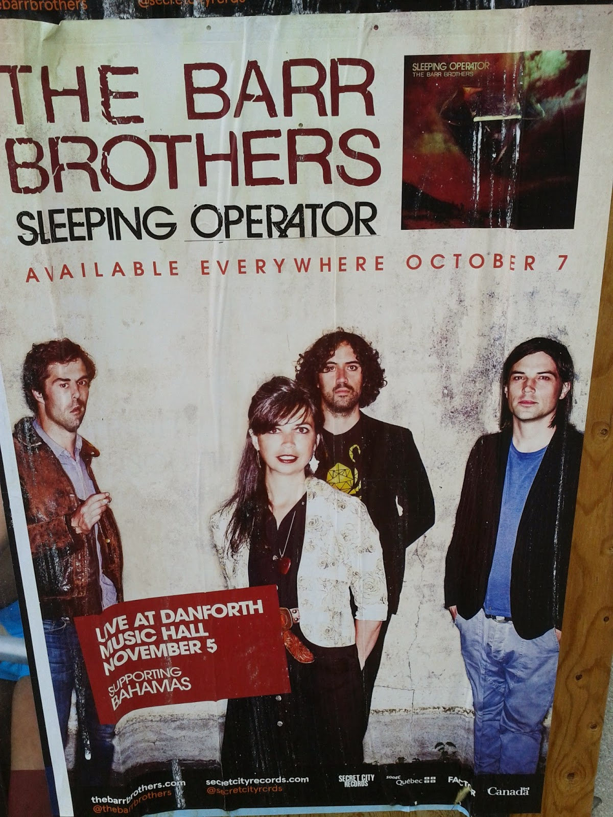 The Barr Brothers Sleeping Operator, Live at Danforth Music Hall Toronto