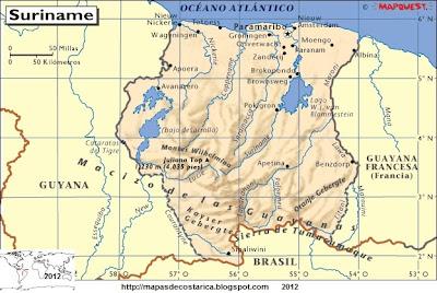 Mapa de SURINAM, Atlas