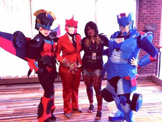 Artist Sarah Stone with cosplayers