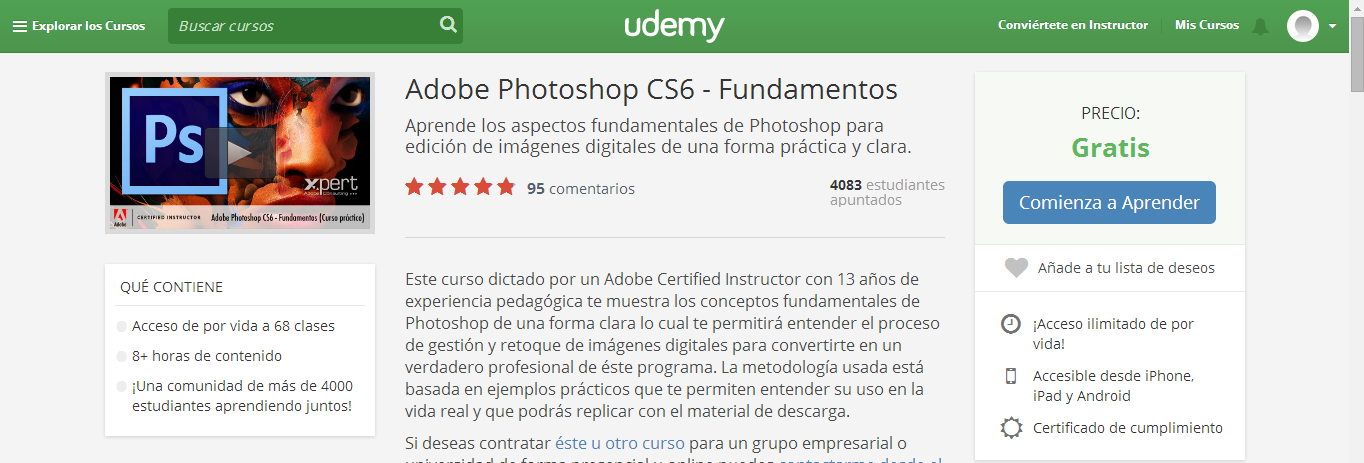 curso MOOC photoshop cs6 udemy