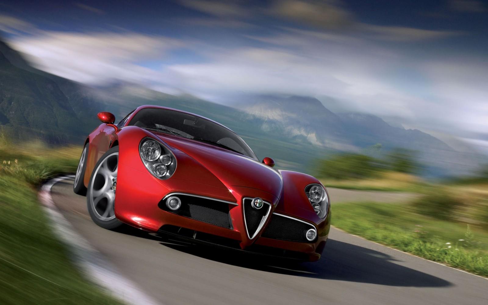 red car racing