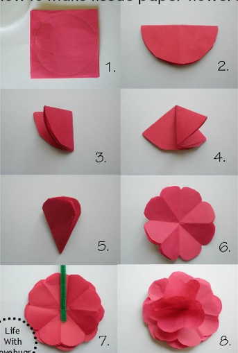 Flower out of paper yelomdiffusion flowers out of paper gallery flower decoration ideas mightylinksfo