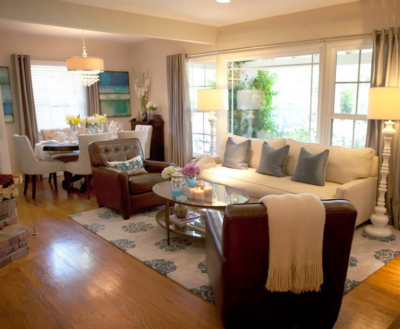 Design ideas for living room and dining room combo for Dining room living room ideas