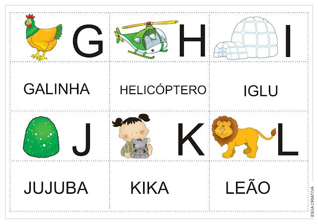 Alfabeto Jogo da Memória Colorido Para recorte após impressão.