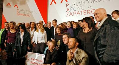 Famosos del PSOE: Juan Echanove, Teo Cardalda, Gracia Querejeta, María José Goyanes, Juanjo Millás, Marisa Paredes