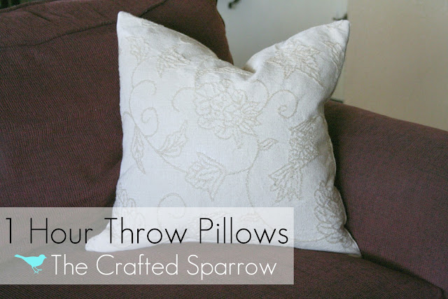 Throw Pillow Makeover : Nest Candy: DIY Pillow Makeovers