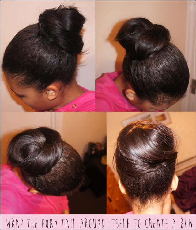 Foxy Hair Extensions Synthetic Wrap Around Ponytail  Bun Review on Natural Hair