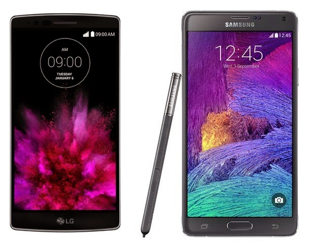 LG G Flex 2 vs. Samsung Galaxy Note 4