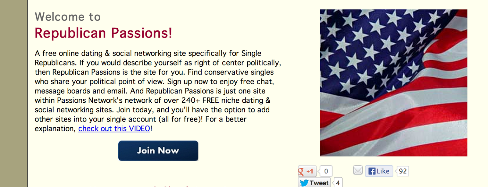 Republican dating website