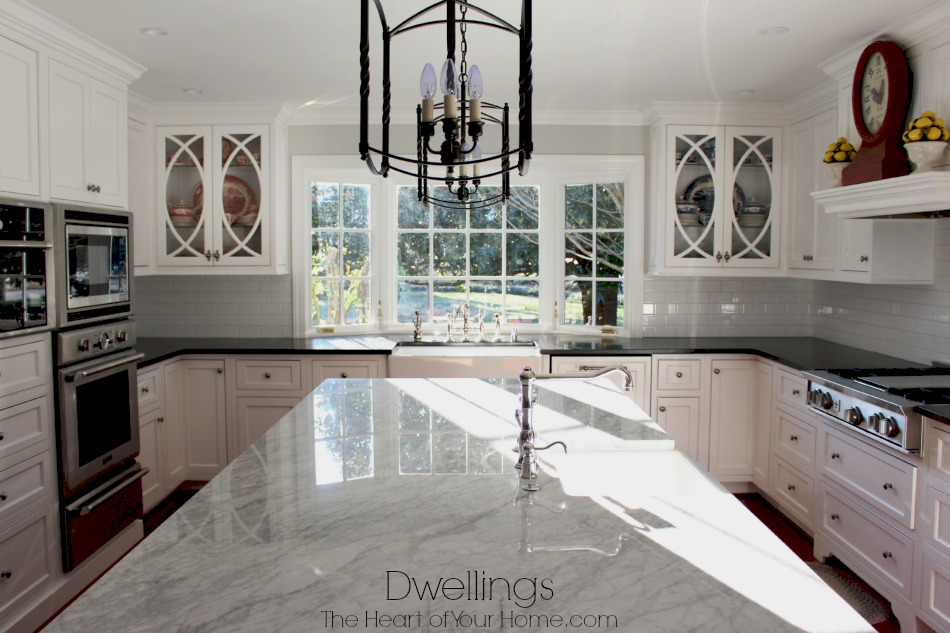 elegant marble kitchen