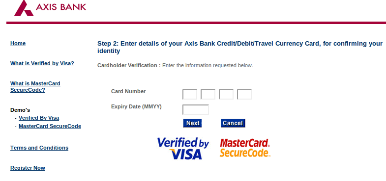 3d secure pin icici bank forex card