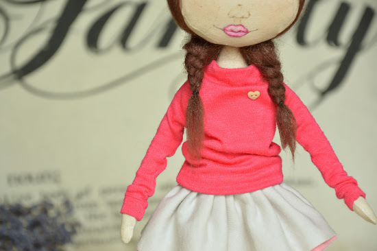 Текстильная кукла, тыквоголовка