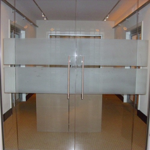 Patel glass aluminium for Office main door design