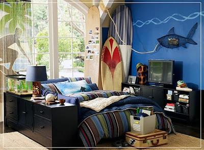 decoración surf dormitorio