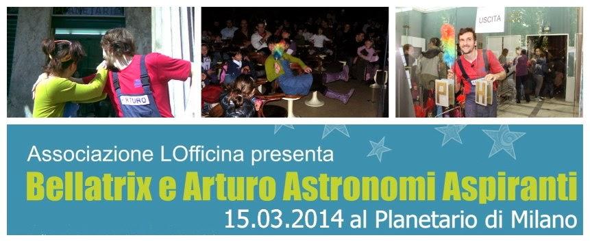 spettacoli di animazione astronomica per bambini al Planetario Civico di Milano