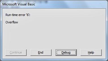 Overflow error in VB6