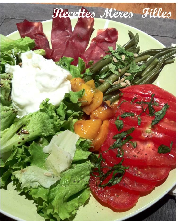 la recette salade estivale salade italienne recettes m res filles. Black Bedroom Furniture Sets. Home Design Ideas