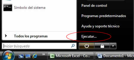 Comandos útiles para Windows 7