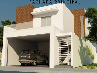 Fachadas de casas modernas enero 2012 for Casa minimalista de 6 metros