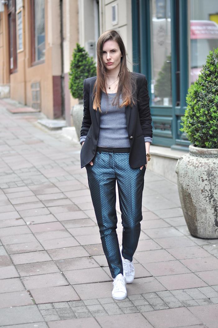 aleksandra skorupan, velvet and milk blog, street style, suit, zara, michael kors