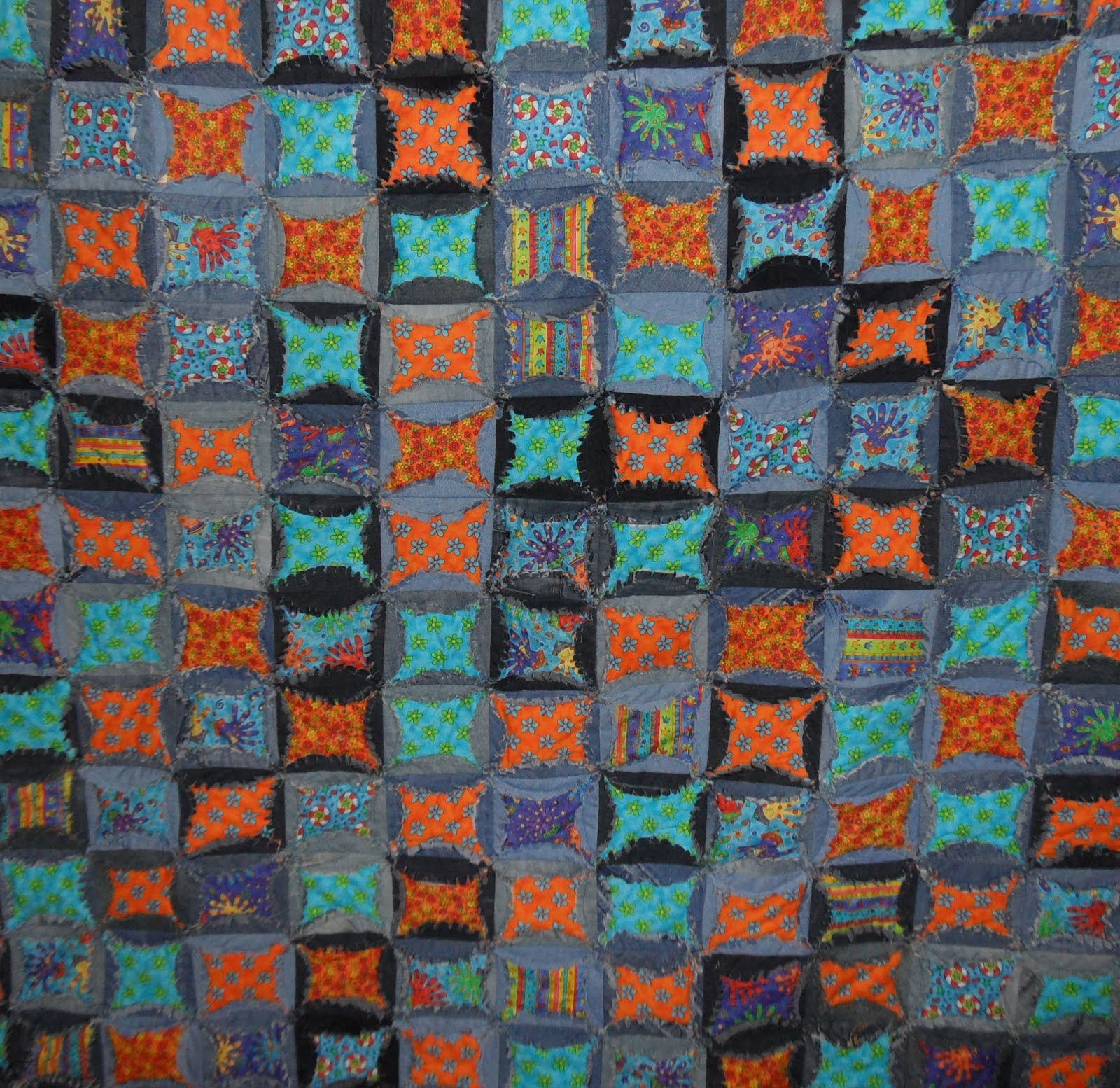 Coloured Jeans quilt