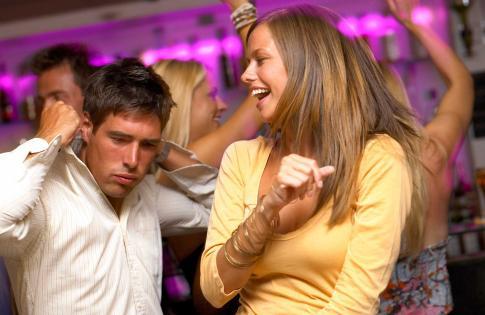 Go Dancing - man guy woman girl dancing at club