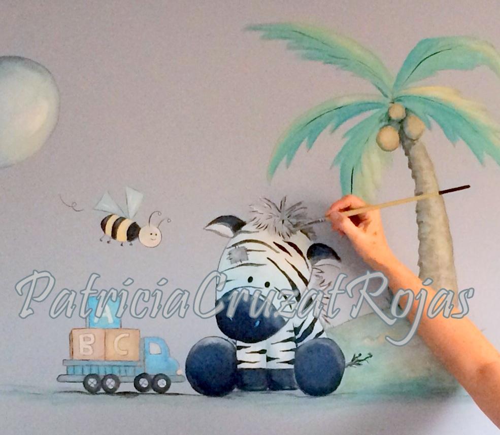Patricia cruzat artesania y color hermoso mural con - Mural para habitacion ...