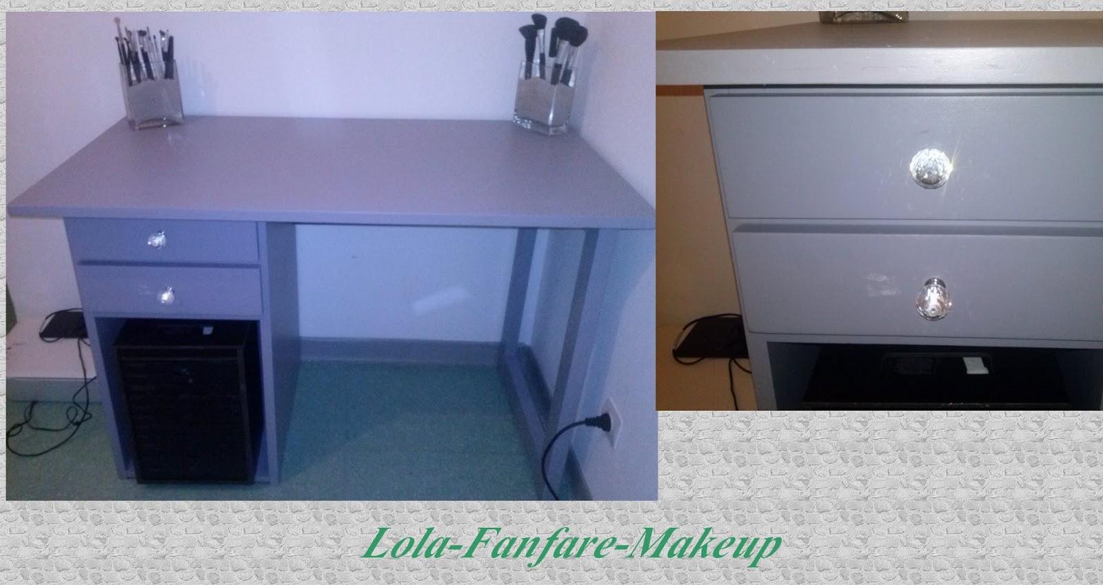 Juai t oblig de changer de place les tiroirs car ils for Meuble coiffeuse pour se maquiller