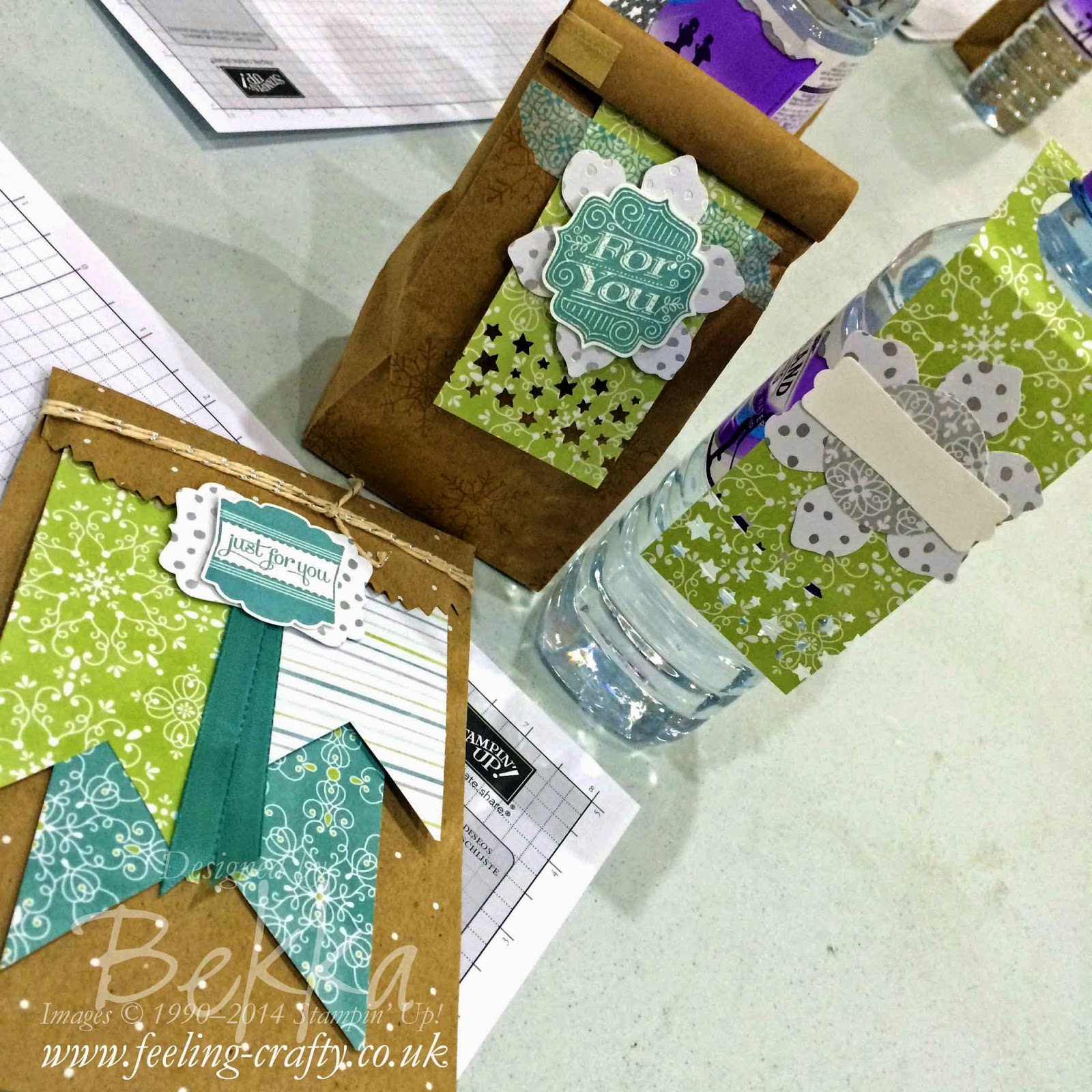 Table Treats for my lovely UK team of Stampin' Up! Demonstrators - why not join us ...