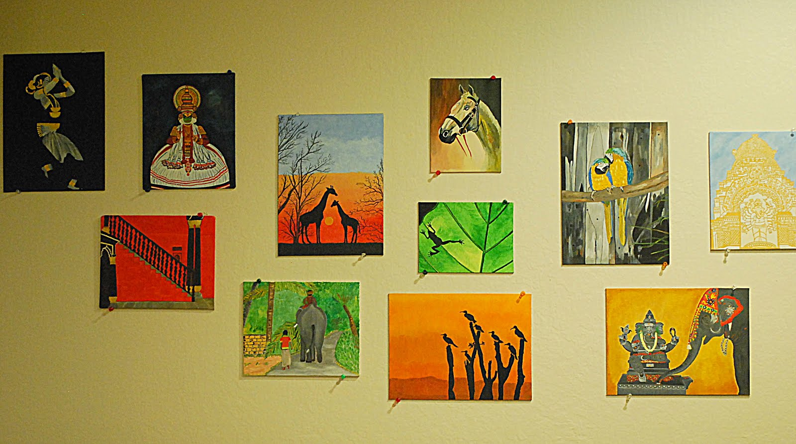 The 'oil on canvas' wall
